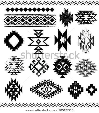 best borders images. Aztec clipart line