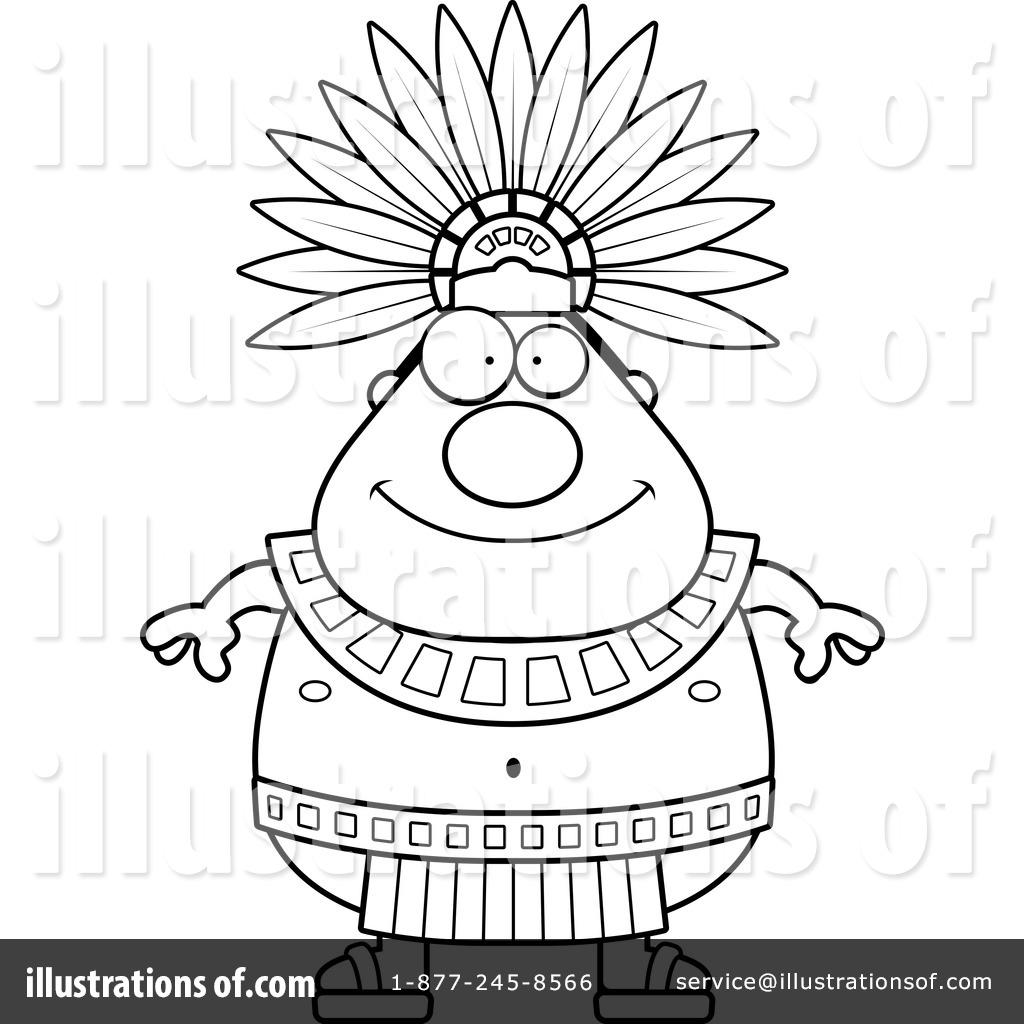 Illustration by cory thoman. Aztec clipart line