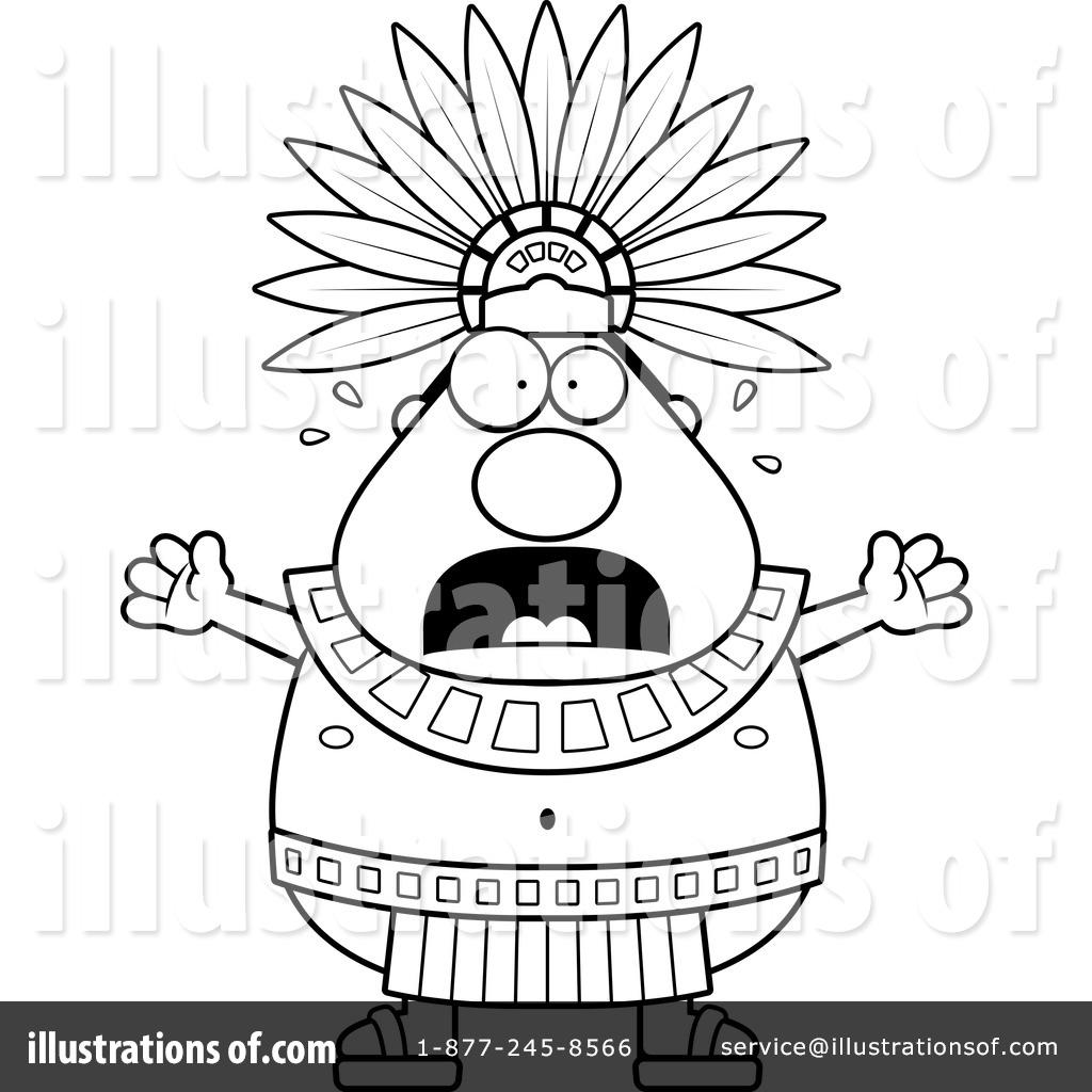 Aztec clipart line. Illustration by cory thoman