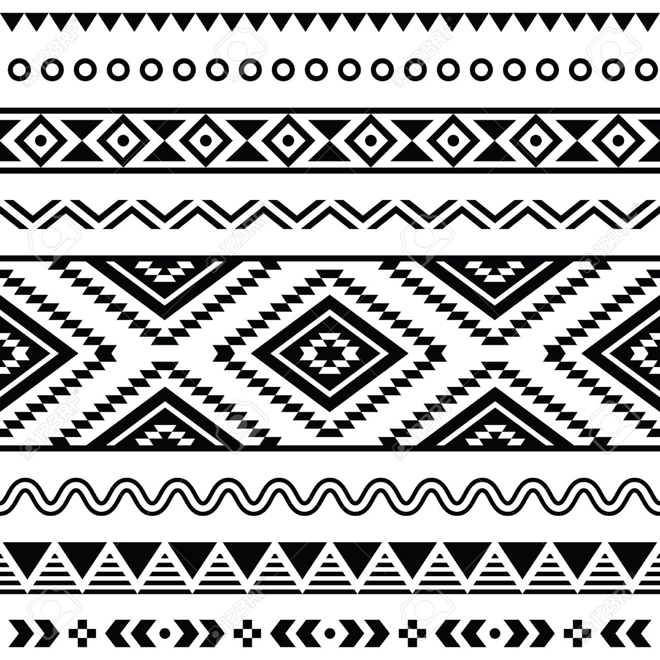 Aztec clipart line. Design