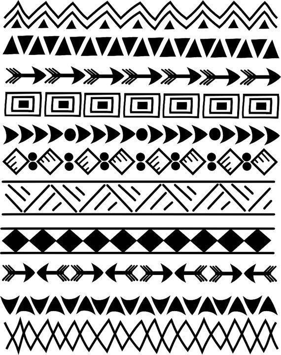 Image result for patterns. Aztec clipart line