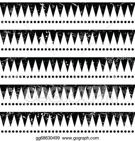 Aztec clipart line. Eps vector seamless tribal