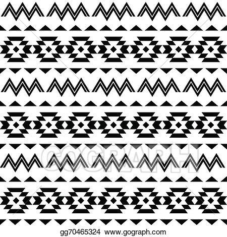 Vector illustration tribal pattern. Aztec clipart line
