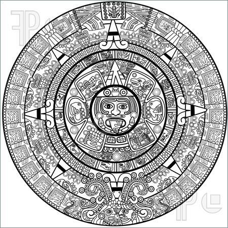 Mayan calendar . Aztec clipart maya