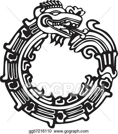 Aztec clipart maya. Vector stock dragon tattoo