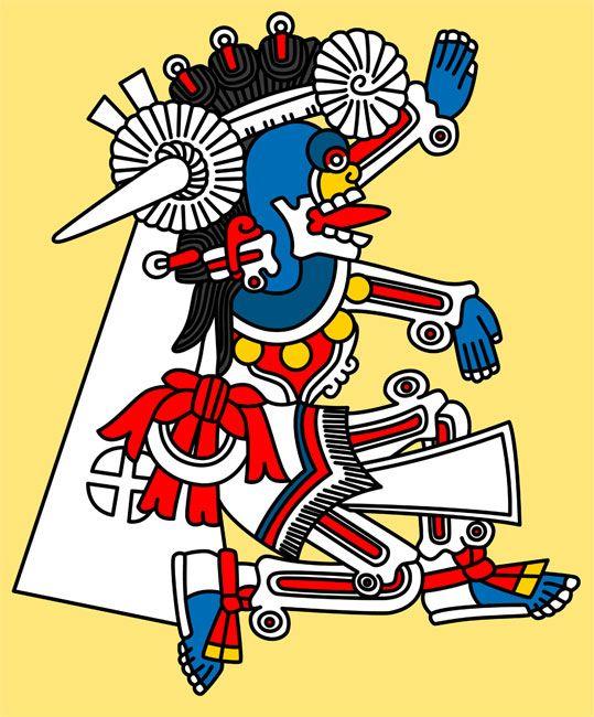 Aztec clipart owl. Mictlantecutli the man god