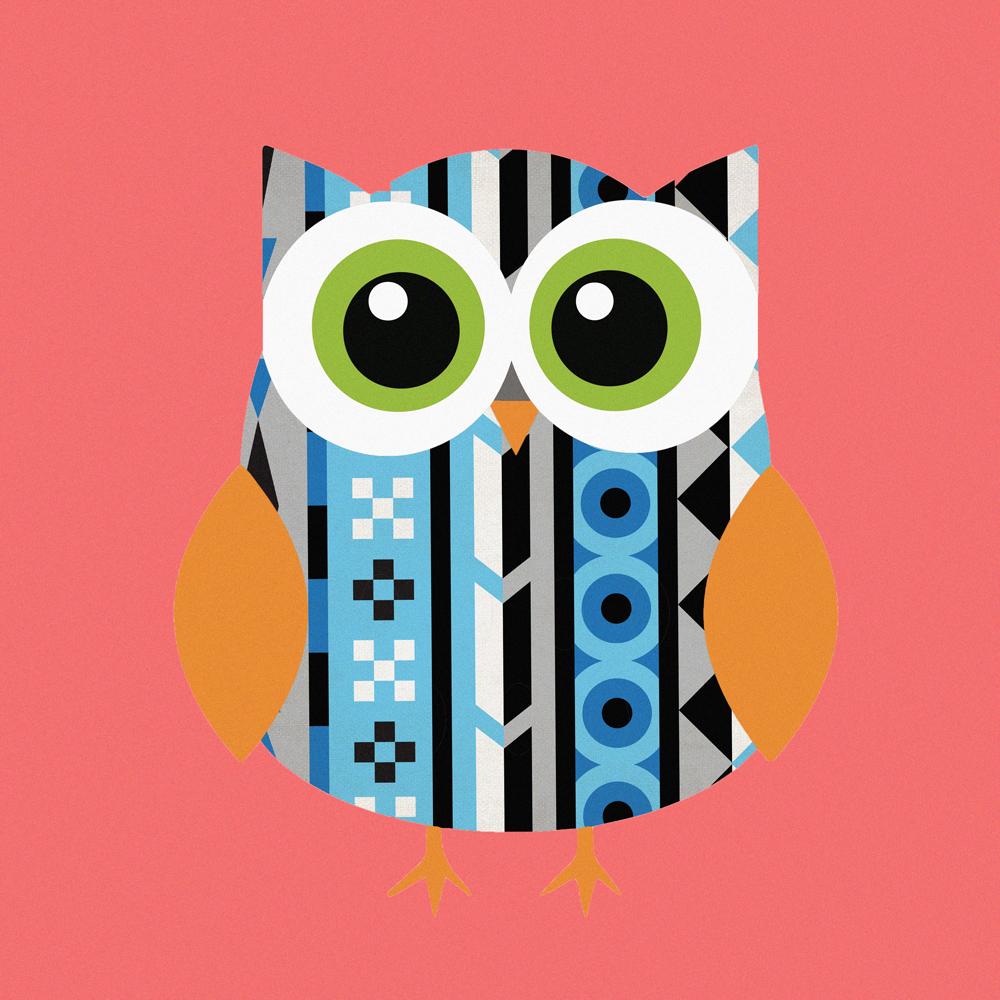 Kids canvas art whoartnow. Aztec clipart owl