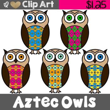 Owls clip art by. Aztec clipart owl