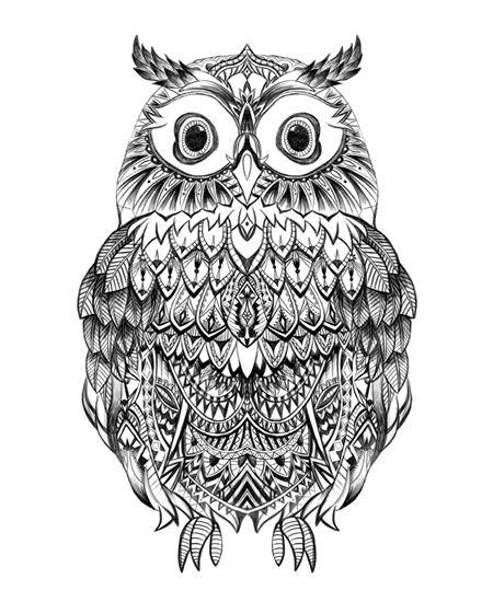 Aztec clipart owl.  best drawing images