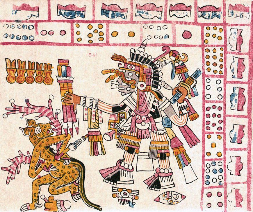 Codex vaticanus b is. Aztec clipart ritual