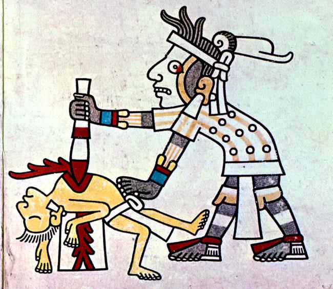 Self sacrifice image of. Aztec clipart ritual