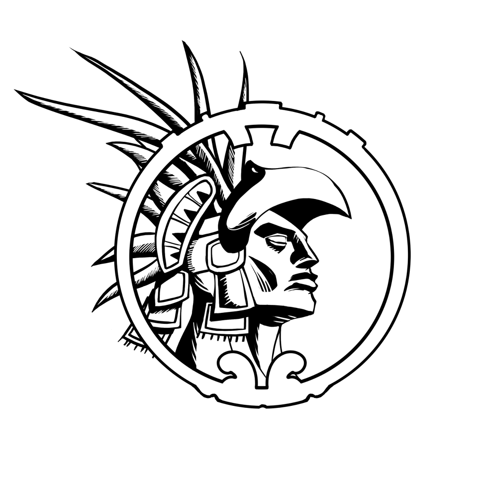 Aztec clipart simple. Warrior drawing at getdrawings