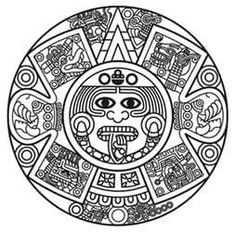 Aztec clipart simple. Serpent drawing at getdrawings