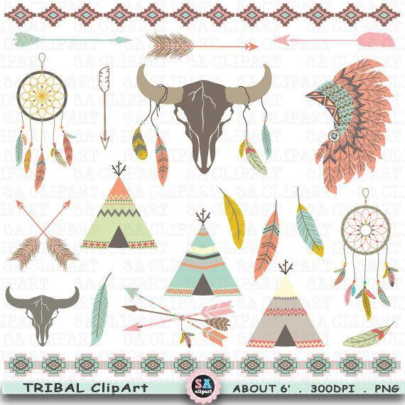 Tribal indian clip art. Aztec clipart skull