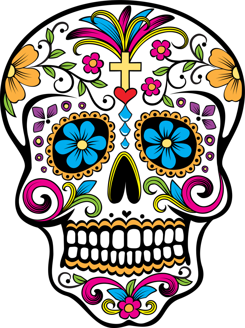 Aztec clipart skull. Images for sugar black