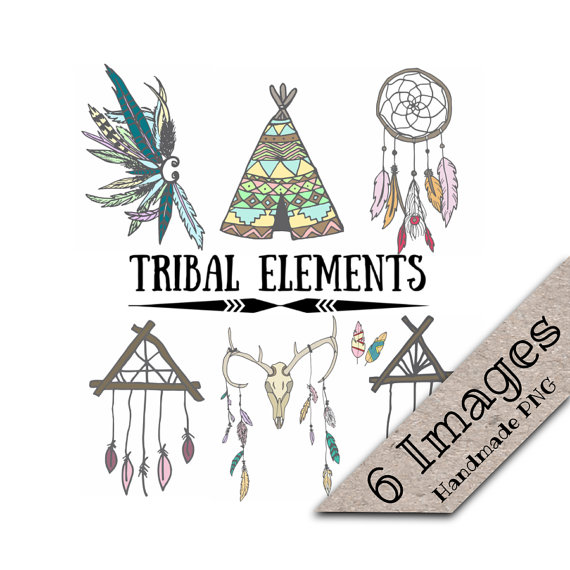 Tribal clip art teepee. Aztec clipart skull