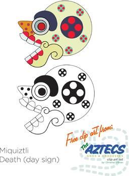 Aztec clipart skull. Clip art freebie by