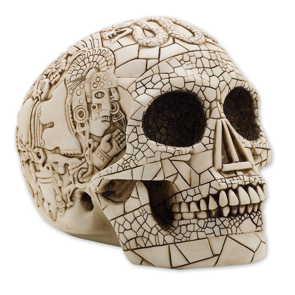 Antideluvian art ancient jewelry. Aztec clipart skull