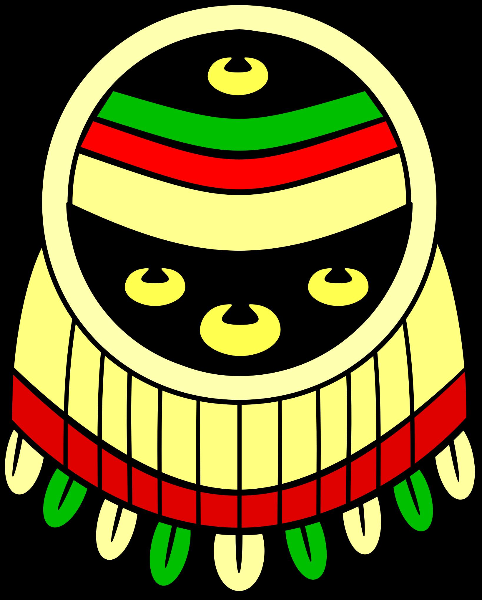 Farmer clipart aztec. Shield escudo chimalli big