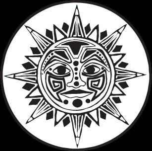 Aztec clipart transparent. Sun jedigems best sunshine