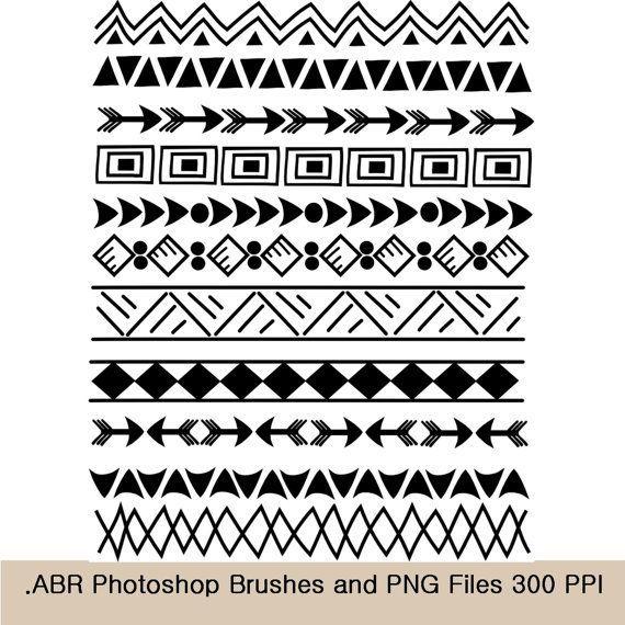 Art sets design patterns. Aztec clipart tribal print