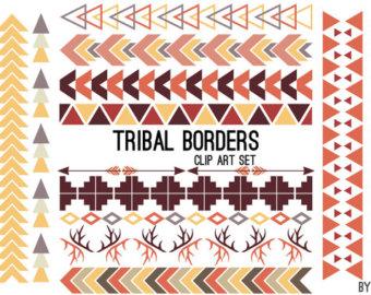 Aztec clipart tribal print. Clip art border dreamcatcher