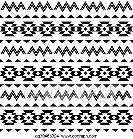 Aztec clipart tribal print. Vector illustration pattern background