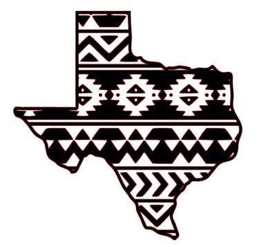 Aztec clipart tribal print. Texas decal car window