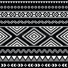 Seamless ethnic pattern background. Aztec clipart tribal print