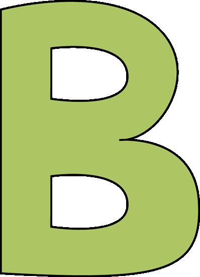 Green letter clip art. B clipart