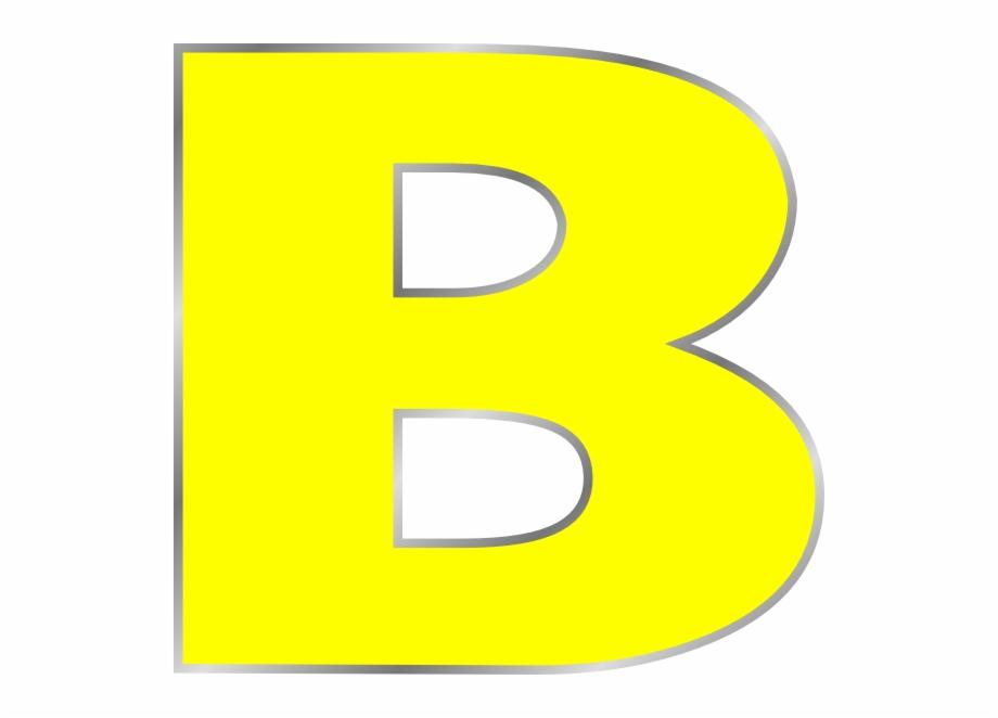 B clipart. Letter clip art color