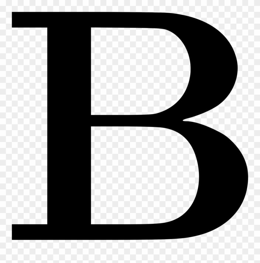 B clipart. Decorative letter pinclipart