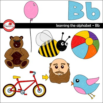 B clipart alphabet. Learning the letter by