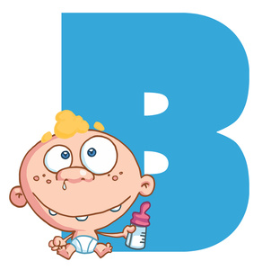 Free image baby letter. B clipart alphabet