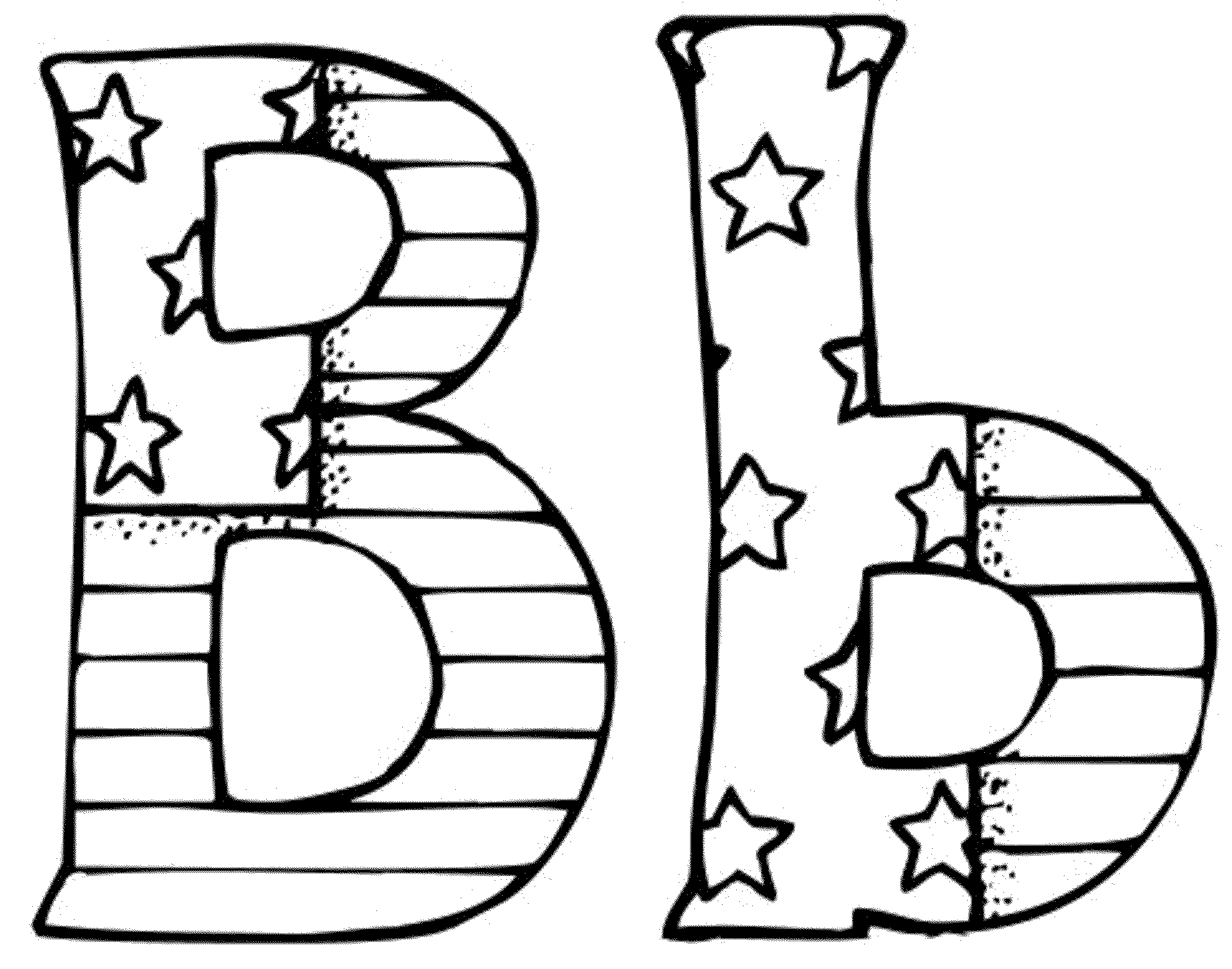 B clipart alphabet coloring page. Letter a pages free