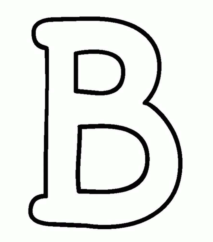 Uppercase pages letters pinterest. B clipart alphabet coloring page