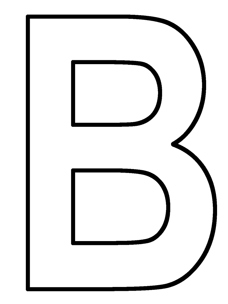 B clipart alphabet coloring page. Best letter pages kids