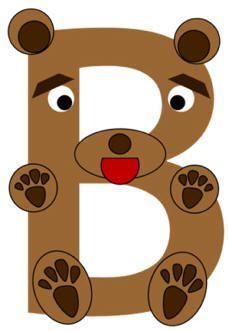 B clipart animal alphabet letter. Preschool art raccoon painted