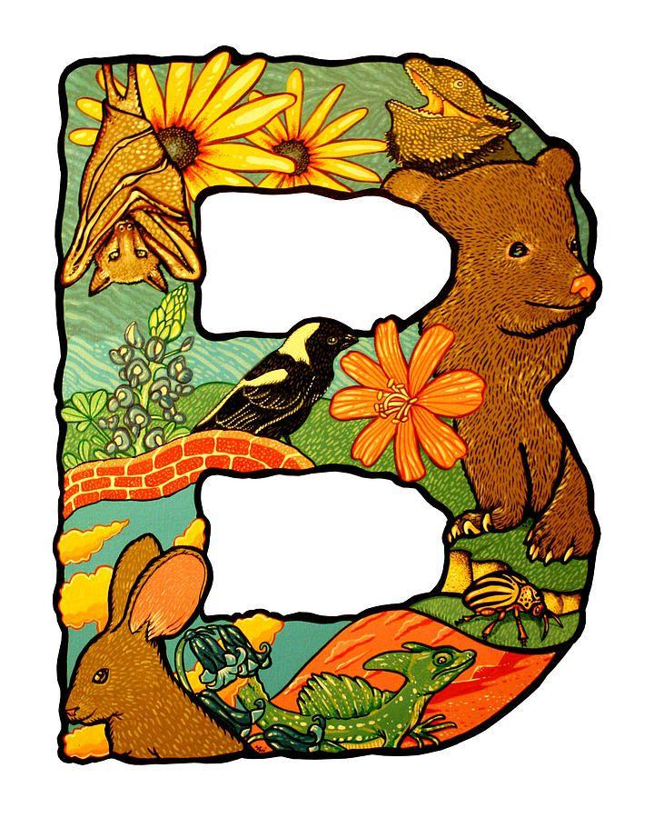 best is van. B clipart animal alphabet letter