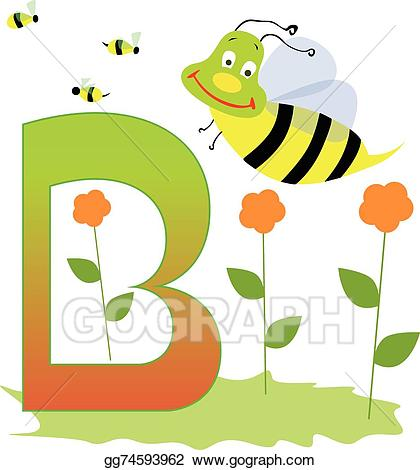 Vector art drawing gg. B clipart animal alphabet letter