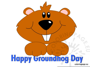 Free groundhog day images. B clipart animated