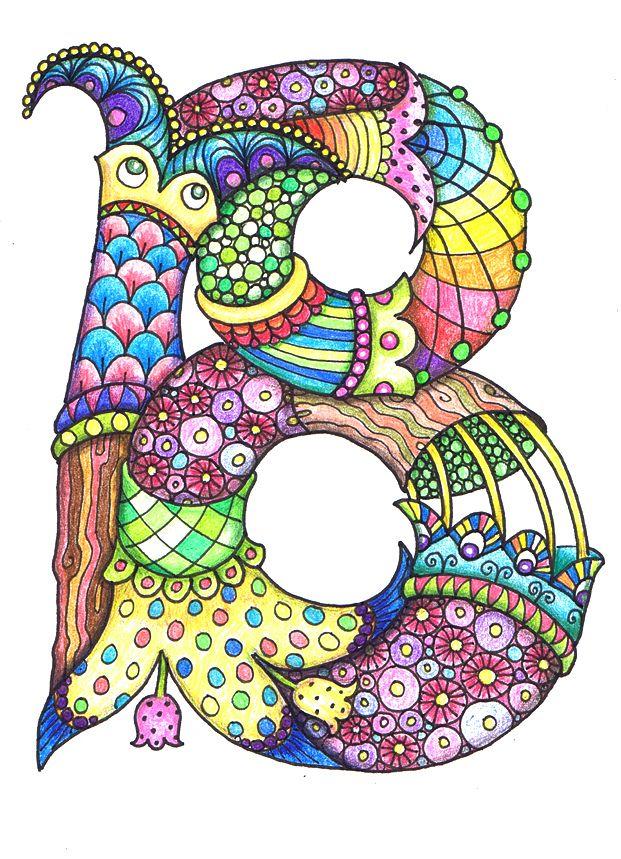 best doodle letters. B clipart artistic