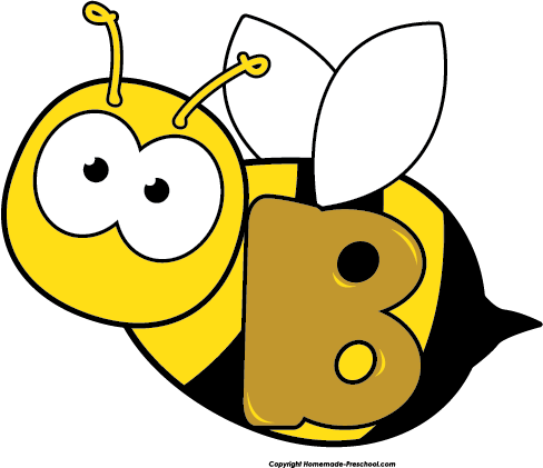 Letter . B clipart bee