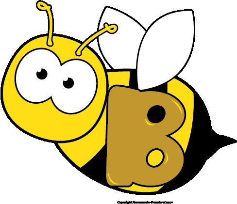 Bee clipart preschool. Letter b
