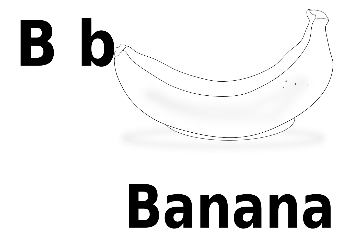 For banana panda free. B clipart black and white