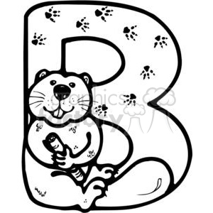 B clipart black and white.  clip art graphics