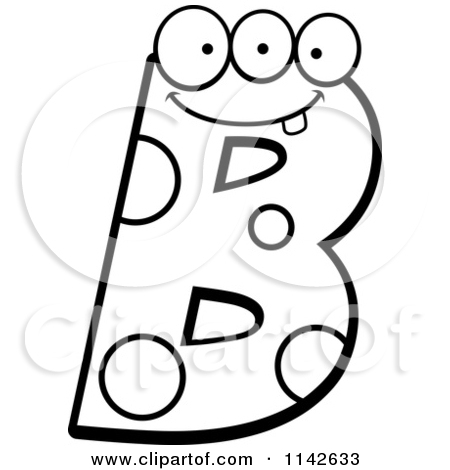Letter . B clipart black and white