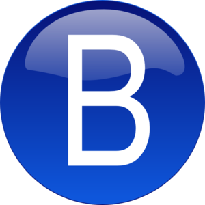 B clipart blue. Clip art at clker