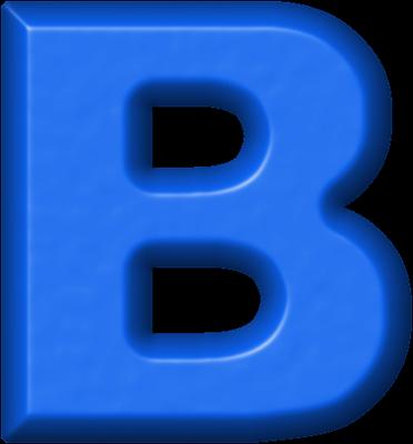 Presentation alphabets refrigerator magnet. B clipart blue