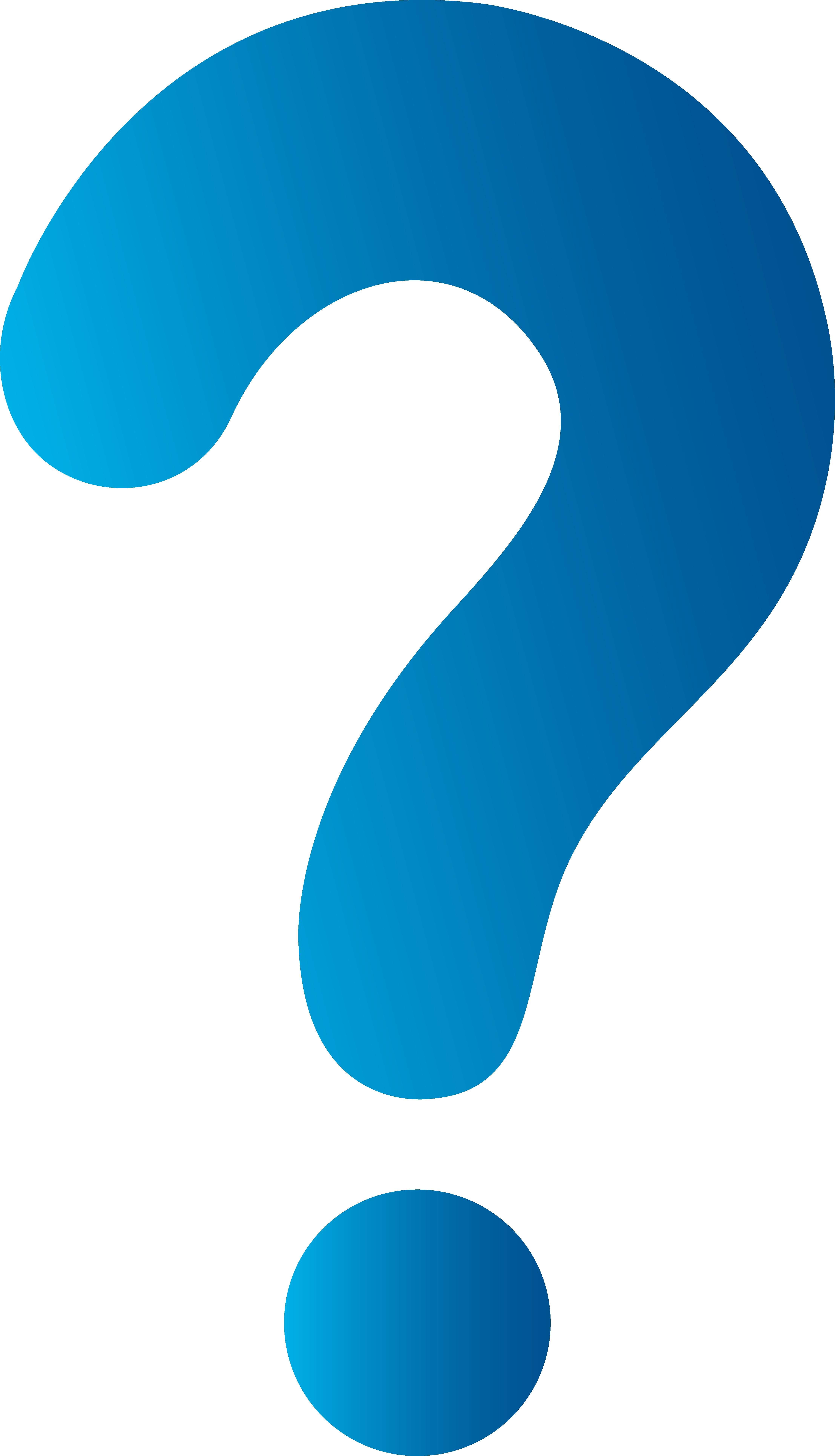 Unique question mark collection. B clipart blue